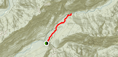 Enchanted Valley Day Hike Map