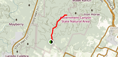 Government Canyon Wildcat Canyon Trail Map