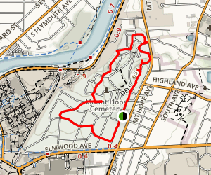 Mount Hope Cemetery Trail Map