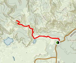 Cascade Lake Trail to Observation Peak Map