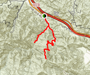 East Canyon and Rice Canyon Trail Map