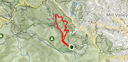 Fern Creek Trail to Lost Trail to Ocean View Trail Loop Map
