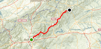 Blue Ridge Parkway: Blowing Rock to Asheville Map