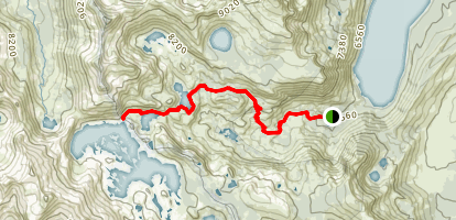 Susie and Heather Lakes Map