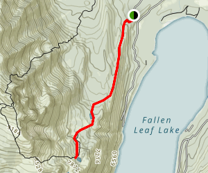 Floating Island & Cathedral Lakes Trail Map
