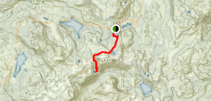 Fourth of July Lake Trail Map