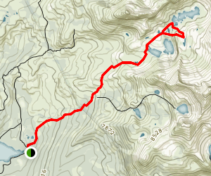 Island and Twin Lakes Map