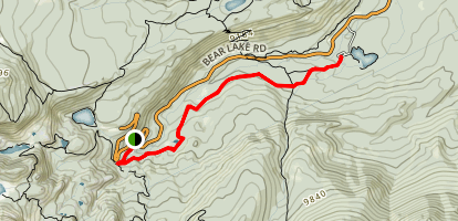 Glacier Gorge to Glacier Creek Trail Map