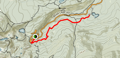 Glacier Gorge to Sprague Lake Trail Map
