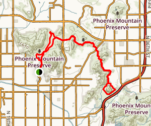 Trail 100 from Mountain View Park Map