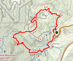 Cheyenne Mtn. State Park Loop Map