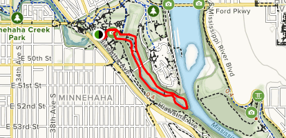 Minnehaha Creek Trail Map