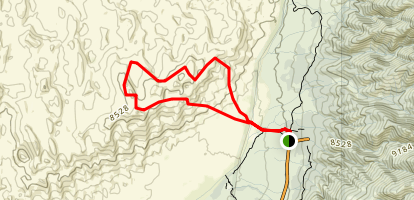 Dunes Trail from Pinyon Flats Map