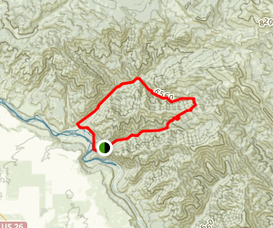 Black Canyon to Big Burns Map