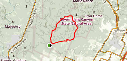 Wildcat Canyon and Far Reaches Loop Trail Map