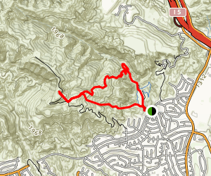 O'Melveny Park Loop to Mission Point Map