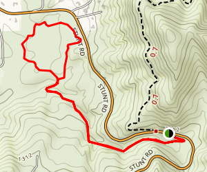 Cold Creek Valley Preserve via Stunt High Trail Map