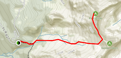 Poverty Gulch Trail to Pilot Knob Map