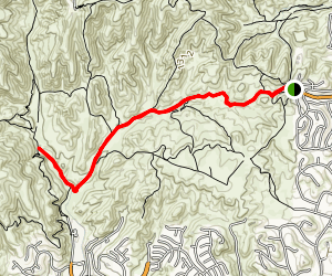 East Las Virgines Canyon Trail Map
