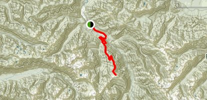 Long Ridge Trail to Dodger Point Map