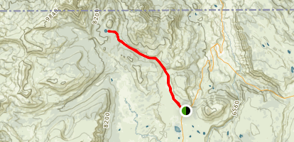 Cache Lake Trail Map