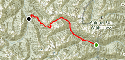 Hayden Pass Trail Map