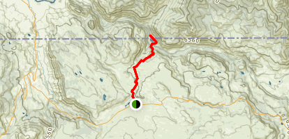Crevice Lake Trail Map