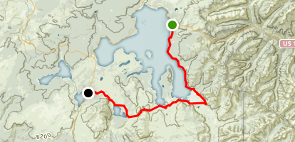 Yellowstone Lake to Heart Lake Trail Map