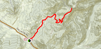 Black Butte Trail to Big Horn Peak Map