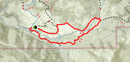 Hillside Trail and Meadow Trail Loop Map