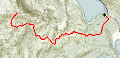 Deadwood Peak and Upper Blue Lake Map