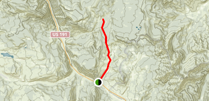 Tepee Creek Trail to Crow Flats Map