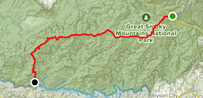 Appalachian Trail: Newfound Gap to Fontana Lake Map