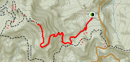 Neels Gap to Blood Mountain Map
