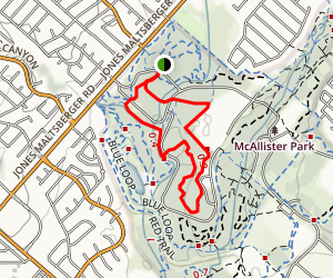 McAllister Park Loop Map