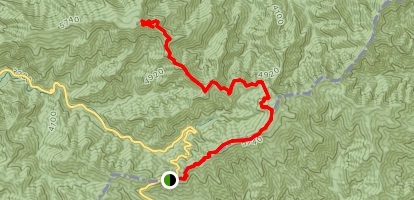 Myrtle Point via Appalachian Trail and Boulevard Trail  Map
