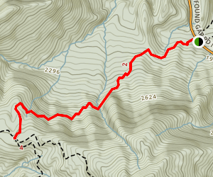 Huskey Gap Trail Map