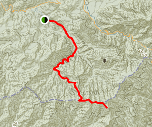 Goshen Prong Trail Map