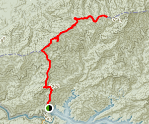 Appalachian National Scenic Trail Fontana Lake to Mount Squires Map