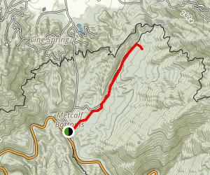 Walker Sisters Home via Little Brier Gap Trail Map