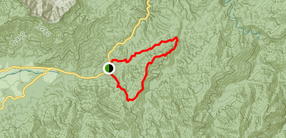 Lead Cove and Finley Cane Trail Map