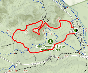 Wilderness and Twin Peaks Trails  Map