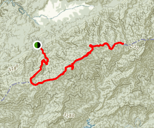 Doe Knob to Spence Field via Appalachian Trail Map