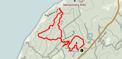 Menemsha Hills Reservation Trail Map