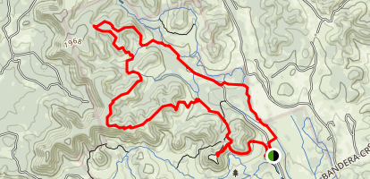 Boyles Bump and 24 Creek Bottom Loop Trail Map