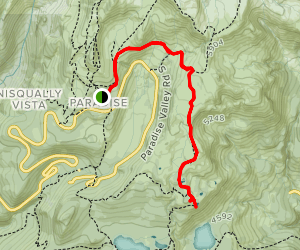 Mazama Ridge Trail to Faraway Rock Map