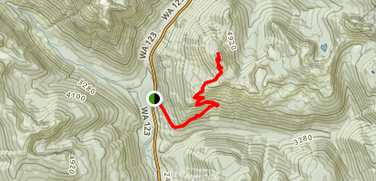 Shriner Peak Lookout Trail Map