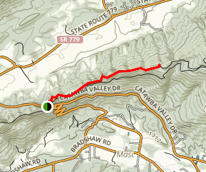 Catawba Mountain  via Appalachian Trail Map