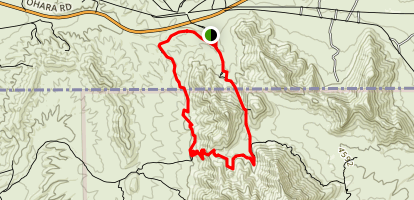 Anthony Gap Northern Pass Loop Trail Map