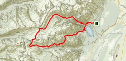 Mount Hunt Divide via Death Canyon Trail Map